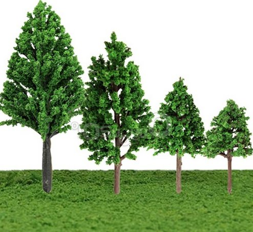 modelling trees for railroad diorama