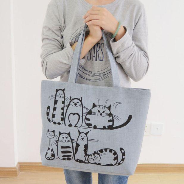shopping bag cat