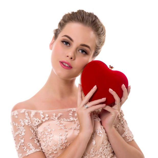 evening bag heart