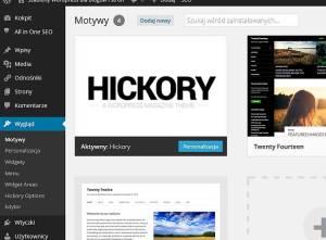 Instalacja szablonu WordPress