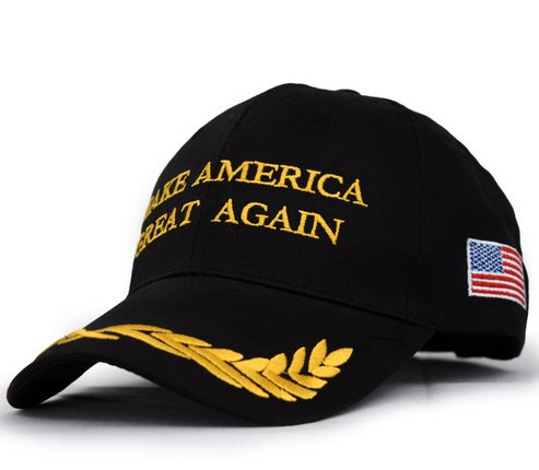 black trump hat