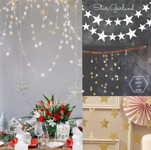 star shaped paper garlands