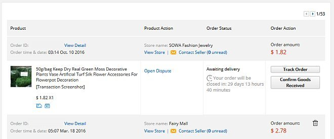 tracking on aliexpress