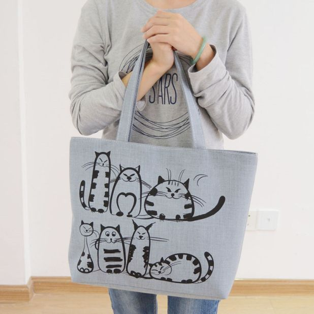 shopping bag cat