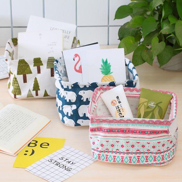 cotton desk organizer