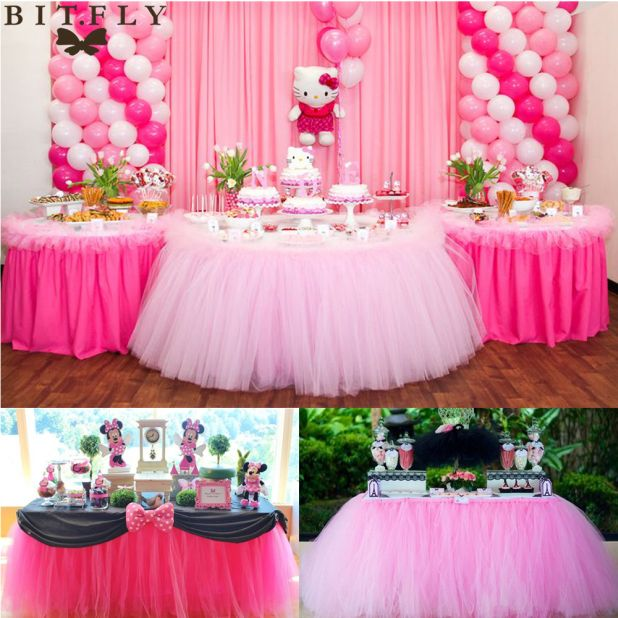 tablecloth with  tulle aliexpress