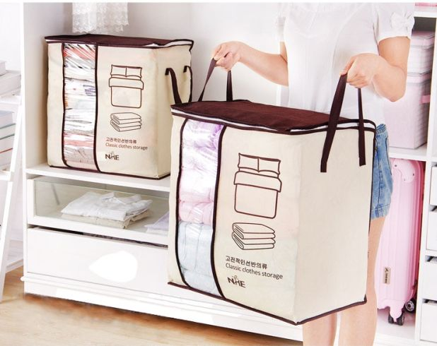 portable bag for bedding and blankets