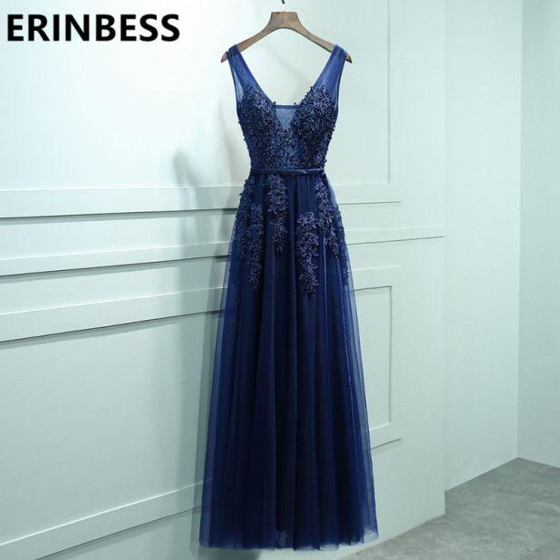 aliexpress dress navy blue