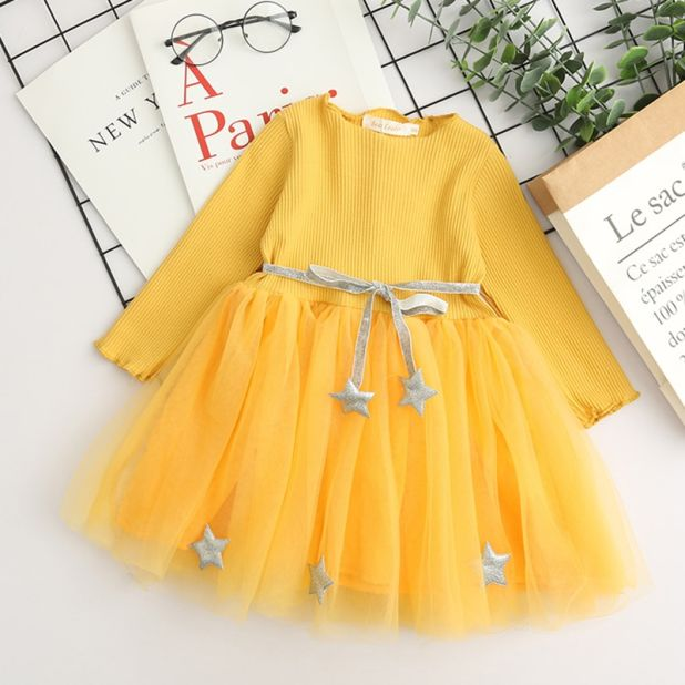 dress yellow star aliexpress