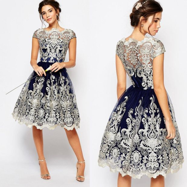 dress with lace prom