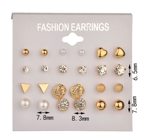 12 pairs of aliexpress earrings