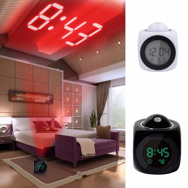 alarm clock LED projector aliexpress