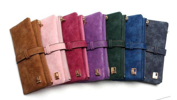 Women's wallet with nubuck aliexpress