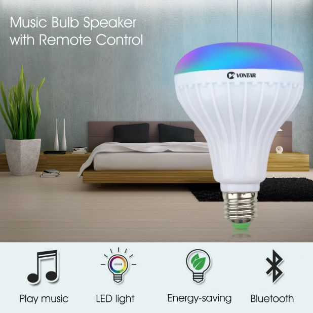 loudspeaker bulb controlled by remote control