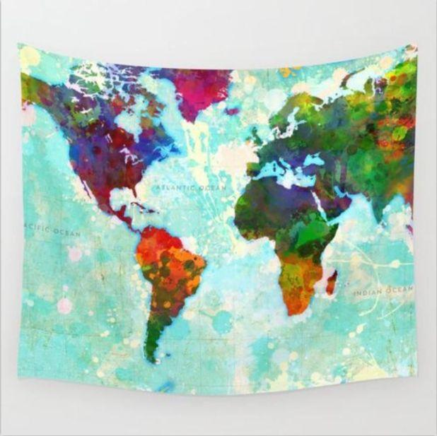 tapestry 3d world map aliexpress