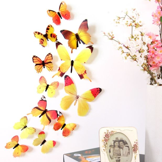 colorful butterflies on the wall of aliexpress