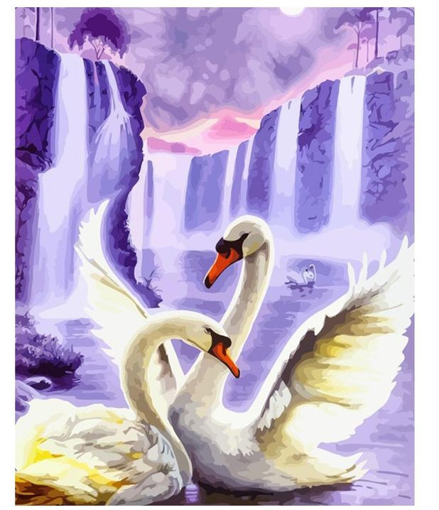 painting by numbers of swans aliexpress