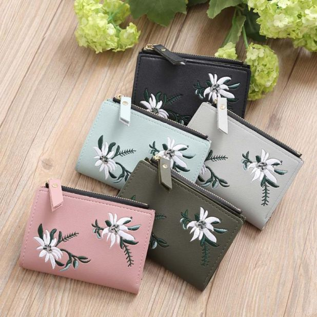 wallet with the a flower pattern liexpress