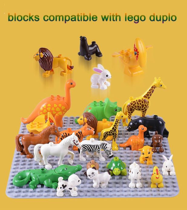 duplo animal building blocks aliexpress