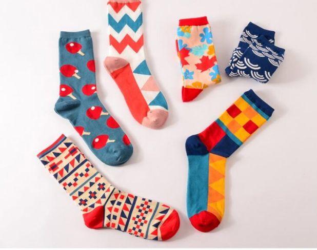 aliexpress socks in geoemetric patterns
