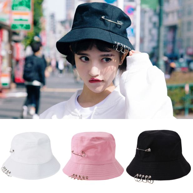 hat with Aliexpress pins