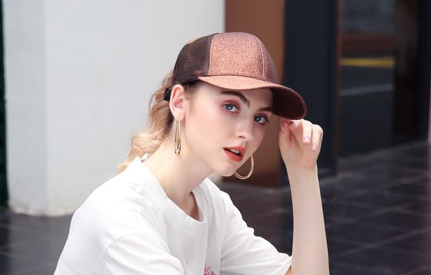 shiny baseball cap aliexpress