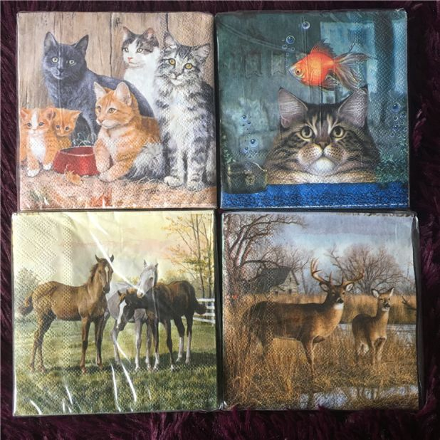napkins cats and dogs aliexpress