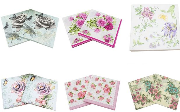 napkins in floral patterns aliexpress