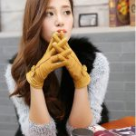 leather gloves with ribbon aliexpresss