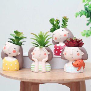 aliexpress flower pot sweet girl