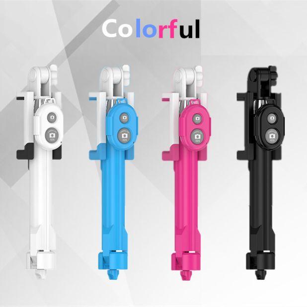 a colorful selfie stick