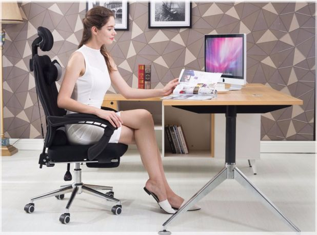 aliexpress office chair with footstool