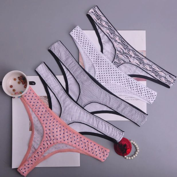 aliexpress thongs with cotton in colorful motifs