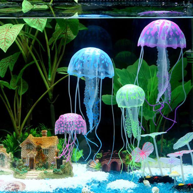 Fluorescent Aquarium Jellyfish