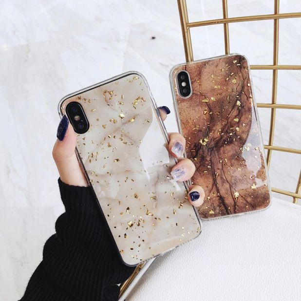 aliexpress glossy case with glitter iPhone