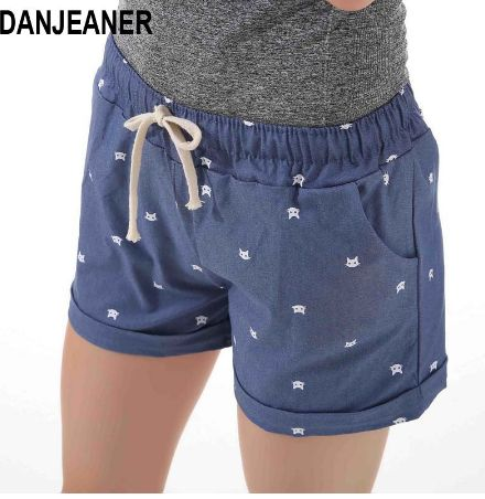 aliexpress shorts with a cat motif
