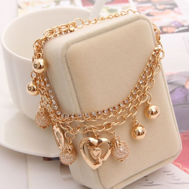 aliexpress gold bracelet with charms