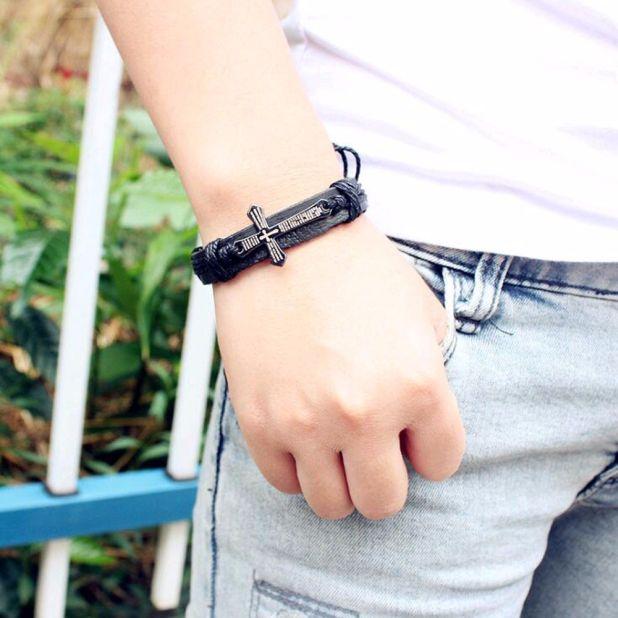 aliexpress bracelet men's cross