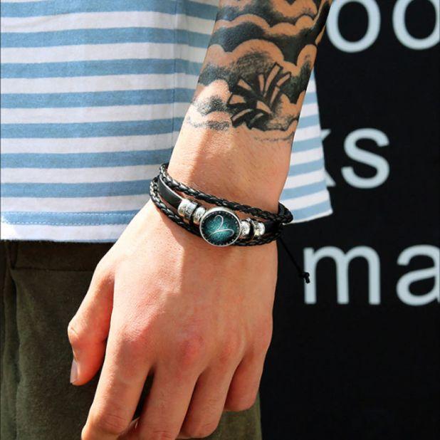 aliexpress bracelet men's zodiac sign