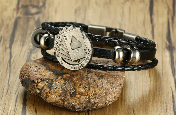aliexpress leather poker bracelet