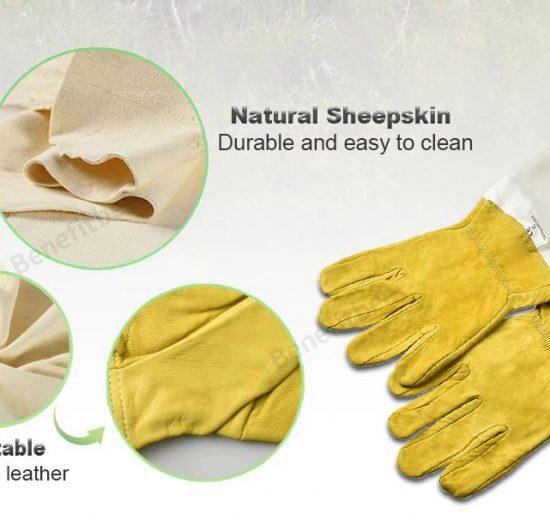 sheepskin beekeeping gloves